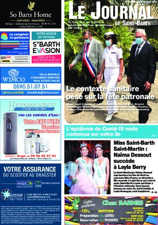 Journal de Saint-Barth N°1386 du 26/08/2020