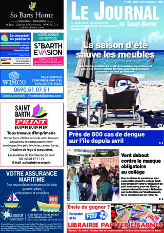 Journal de Saint-Barth N°1388 du 09/09/2020