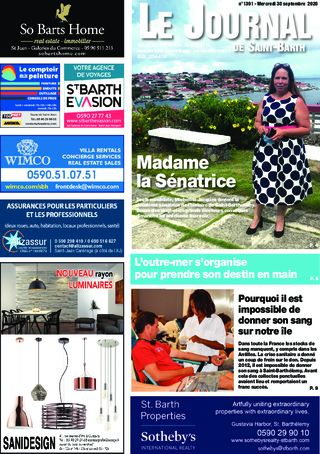 Journal de Saint-Barth N°1391 du 30/09/2020