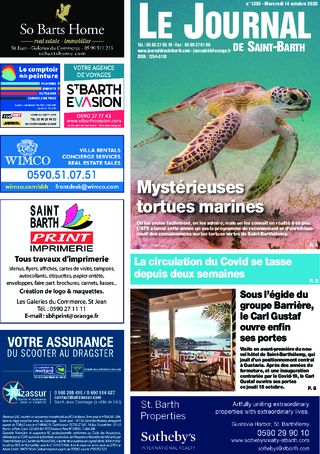 Journal de Saint-Barth N°1393 du 14/10/2020