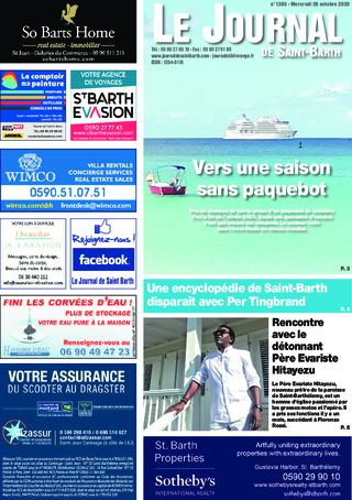Journal de Saint-Barth N°1395 du 28/10/2020