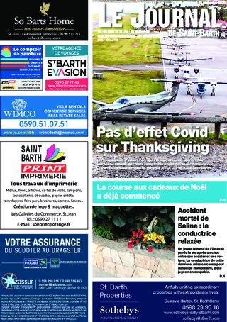 Journal de Saint-Barth N°1399 du 25/11/2020