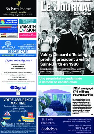 Journal de Saint-Barth N°1401 du 09/12/2020