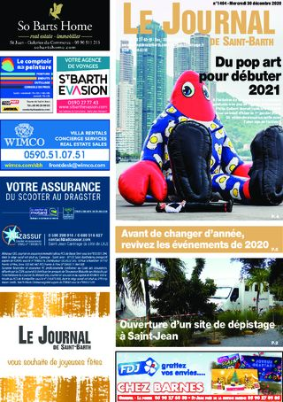 Journal de Saint-Barth N°1404 du 30/12/2020