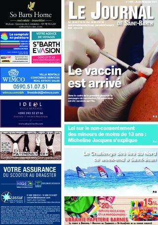 Journal de Saint-Barth N°1408 du 28/01/2021