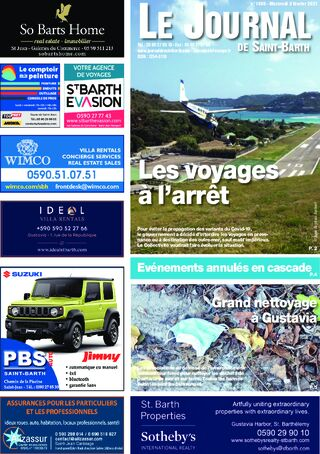 Journal de Saint-Barth N°1409 du 03/02/2021