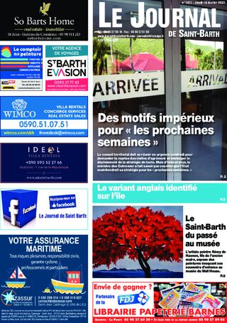 Journal de Saint-Barth N°1411 du 18/02/2021