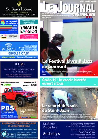Journal de Saint-Barth N°1417 du 01/04/2021