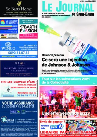 Journal de Saint-Barth N°1418 du 08/04/2021