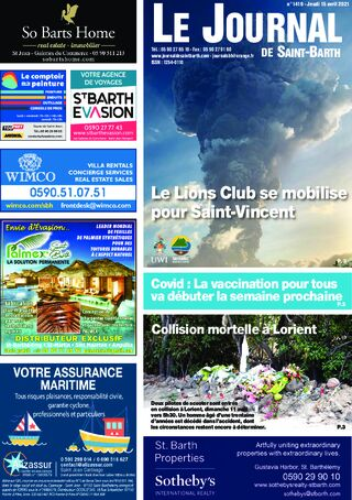 Journal de Saint-Barth N°1419 du 15/04/2021