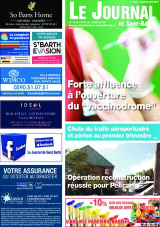 Journal de Saint-Barth N°1420 du 22/04/2021