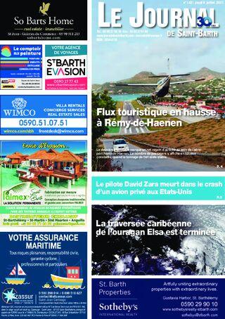 Journal de Saint-Barth N°1431 du 08/07/2021