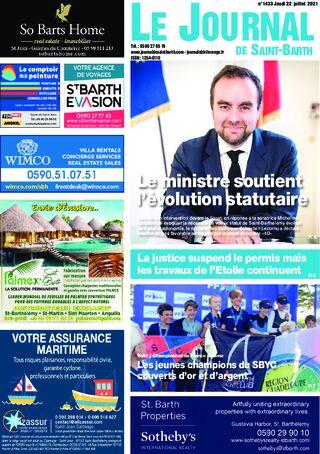 Journal de Saint-Barth N°1433 du 22/07/2021