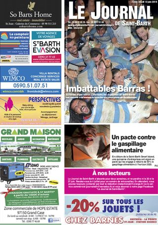 Journal de Saint-Barth N°1332 du 13/06/2019